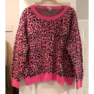 victoria secret pink leopard sweater